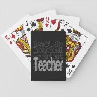Teacher Extraordinaire Poker Deck