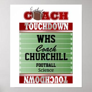 Teacher Football Coach Sign - Door Poster - SRF