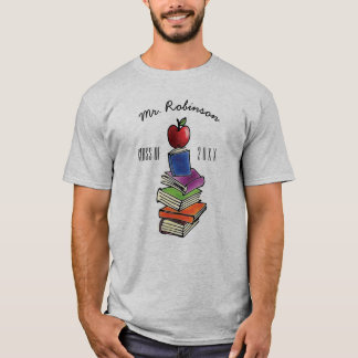 Teacher Gift from Class Apple with Book Stack T-Shirt