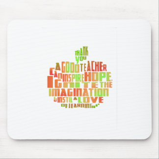 Teacher Gift Keepsake Apple Quote Thank You Mouse Pad