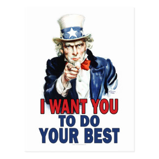 Teacher Gift Notes - Uncle Sam Postcard