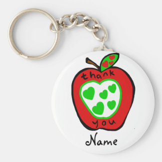 Teacher Gift Under $5 Personalized thank you Keychain