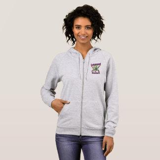 Teacher heather grey zip hoodie