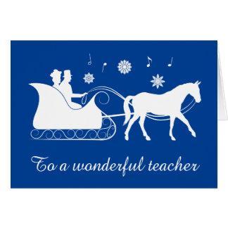 Teacher: Horse-Drawn Sleigh Greeting Card
