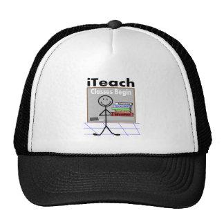 "Teacher ""I Teach"" Stick People T-Shirts Trucker Hat"