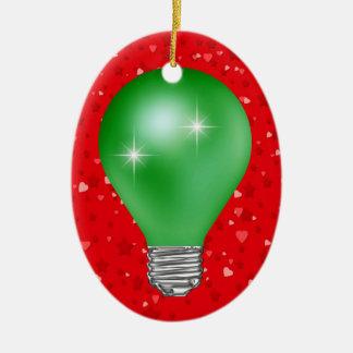 Teacher Light Bulb Ceramic Ornament