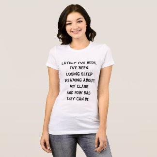 Teacher lyric tshirt black white funny