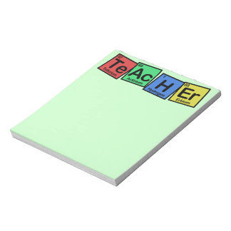 Teacher made of Elements whimsical Notepad
