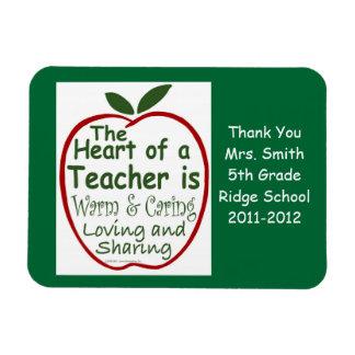 Teacher Magnet, Apple verse with dedication Rectangular Photo Magnet