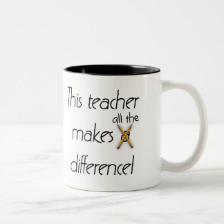 Teacher Makes a Difference Coffee Mug