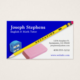 Teacher, Mentor or Tutor Business Card