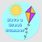 Teacher/Mom Stickers Summer Sun and Kite