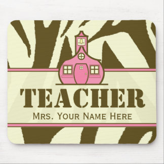 Teacher Mousepad - Brown Zebra Print