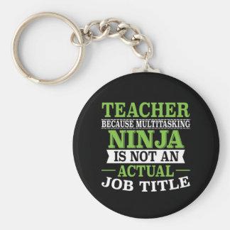 Teacher Multitasking Ninja not a job title Keychain