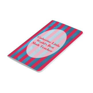 Teacher Notepad in Stripes Personalizable Journal