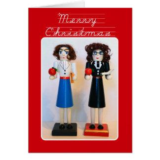 Teacher Nutcracker Christmas Greeting Card