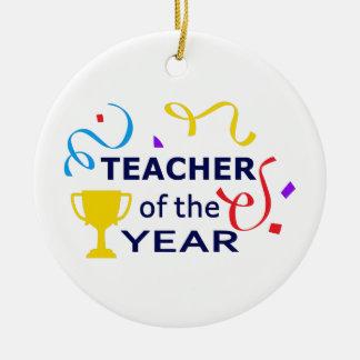 TEACHER OF THE YEAR CERAMIC ORNAMENT