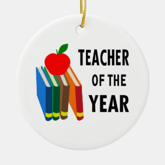 teacher of the year ceramic ornament