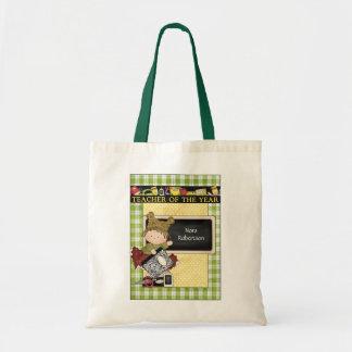 Teacher of the Year Custom Tote Bag