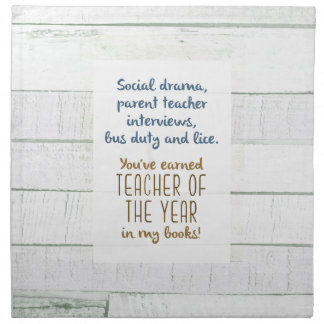 Teacher of the Year Napkin