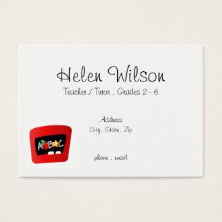 Teacher or Tutor With ABC Apple Business Card