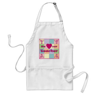 Teacher Patchwork (Pink) Apron