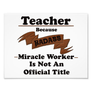 Teacher Photographic Print