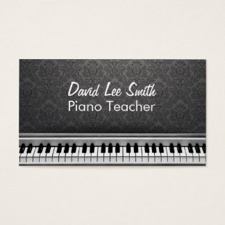 Teacher piano business card