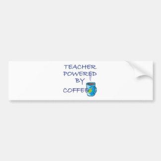 TEACHER POWERED BY COFFEE BUMPER STICKER