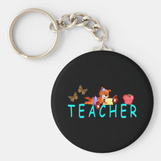 Teacher Reading Keychain
