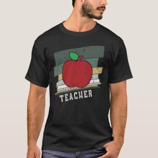 Teacher Red Apple Retro Vintage Stripes T-Shirt