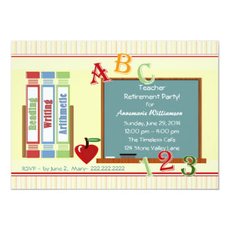 Teacher Retirement ChalkBoard Invitation