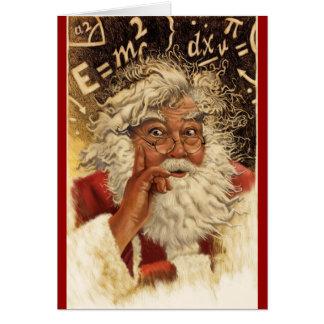 teacher santa christmas card
