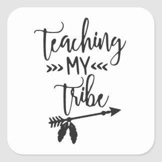Teacher simple typography funny  quote square sticker