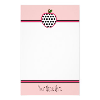 Teacher Stationery - Polka Dot Apple