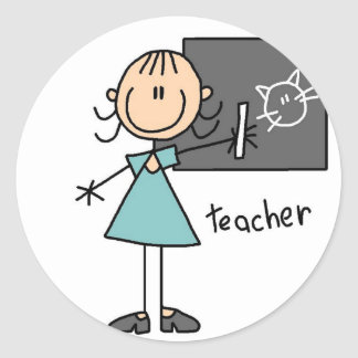 Teacher Stick Figure Sticker