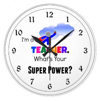 Teacher Super Power Wallclock