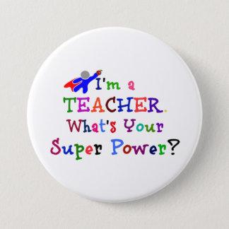Teacher Superhero 3 Inch Round Button