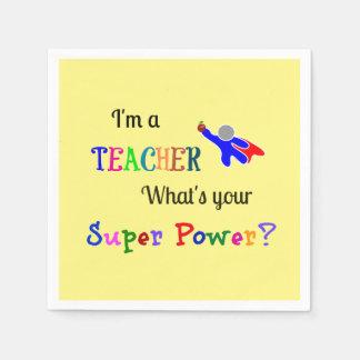 Teacher Superhero Paper Napkins