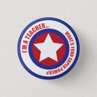 Teacher Superhero Pin