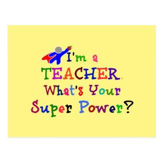 Teacher Superhero Postcard