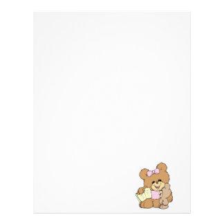 teacher teaching baby teddy bear design letterhead