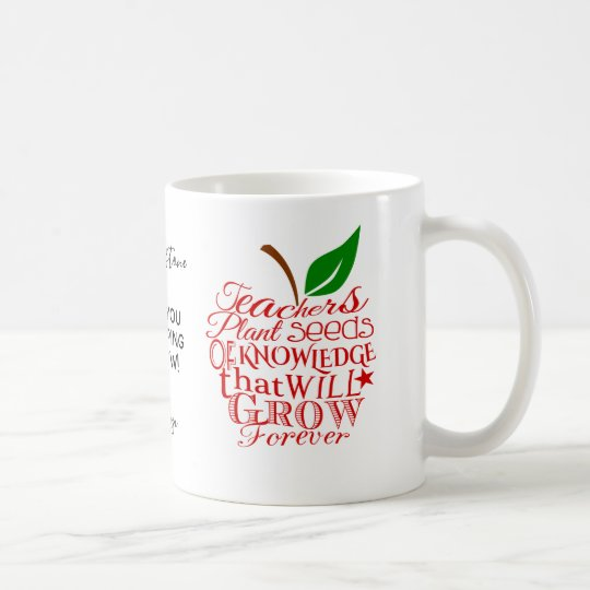 Teacher thank you apple mug christmas gift