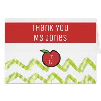 Teacher Thank You Apple Name Monogram Templates