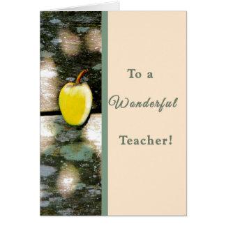 Teacher Thank You Card upon Graduation
