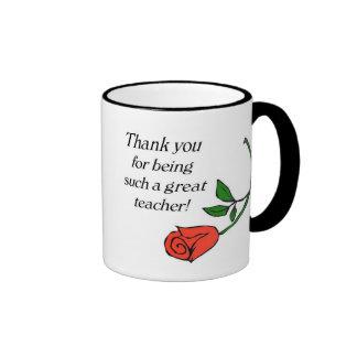 Teacher thank you mug