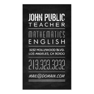 Teacher Tutor Chalkboard Business Card
