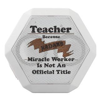 Teacher White Bluetooth Speaker