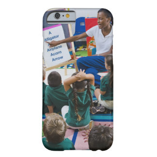 Teacher with preschool students in classroom barely there iPhone 6 case