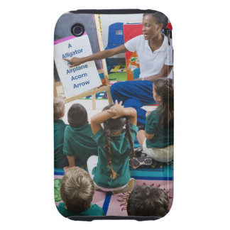 Teacher with preschool students in classroom iPhone 3 tough case